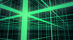 3D Neon Green Grid Background Animation Loop Stock Footage