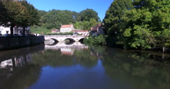 Stock Video Footage of Old stone bridge in Brantome