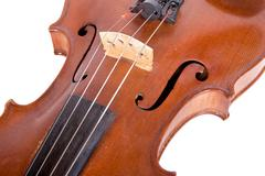 part of an old violin - stock photo