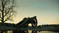 Old Cannon Fires Stock Footage