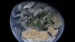 Photorealistic Earth Zooming out of Europe - stock footage
