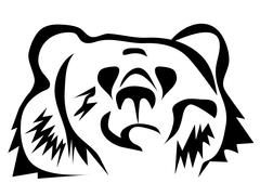 Stock Illustration of brown bear silhouette