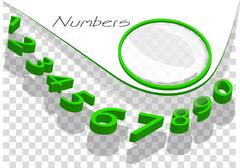 numbers abstract background - stock illustration