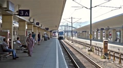 People Waiting For Train In Wien Mitte Station Stock Footage