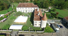 Stock Video Footage of Aerial view of Bourbet Castle, France