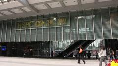HSBC Bank headquarters, Hong Kong Stock Footage
