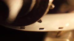 8mm film rol in a filmprojector, Closeup, 4K Ultra HD Stock Footage