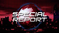 """Special Report"" Title Animation (Red) Stock Footage"