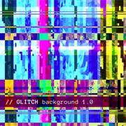 colored abstract glitch art design background. - stock illustration