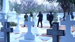 Christian Graveyard at India Stock Footage