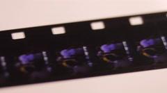 8mm film rol, Closeup, 4K Ultra HD Stock Footage