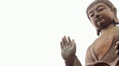 Big statue, Tian Tan Buddha, Hong Kong - stock footage