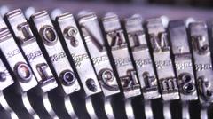 Close up of an old Vintage Typewriter, 4K UltraHD Stock Footage