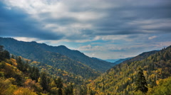 Smoky Mountains Beautiful Contrasty Clouds High Dynamic Range Stock Footage