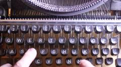 Close up of an old Vintage Typewriter, 4K UltraHD - stock footage