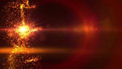 Glow glittering stars effect. Stock Footage