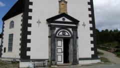 Exterior of the church in Roros, Norway. Stock Footage
