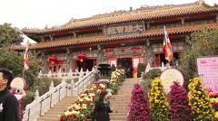 Po Lin Monastery, Lantau Island, Hong Kong - stock footage
