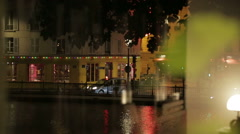 View of Canal St. Martin in Paris, France - stock footage