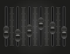 panel console sound mixer vector illustration - stock illustration