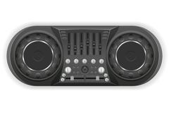 dj panel console sound mixer vector illustration - stock illustration