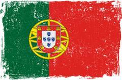 Portugal Vector Flag on White - stock illustration
