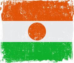 Niger Vector Flag on White Stock Illustration
