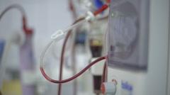 Hemodialysis machine Stock Footage