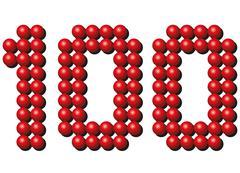 Hundred Red Balls Stock Illustration