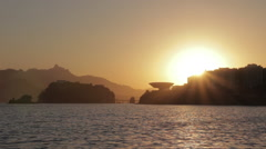 Sunset in Rio Niterói on the FG 2 Stock Footage