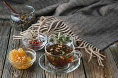 Folk alternative medicine concept Stock Photos