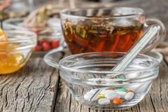Folk alternative medicine concept - stock photo