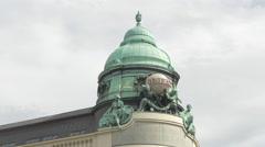 Dome of Generali building in Albertina Platz, Vienna Stock Footage