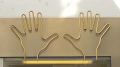 Hands shape on a building in Vienna Stock Footage
