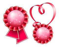 Award badge and ribbon Stock Illustration
