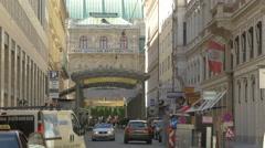 Ringstrassen-Galerien in Vienna Stock Footage