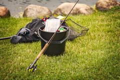 Fishing gear Stock Photos