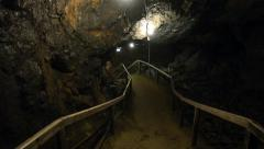 Passage in the historical king's Olav copper mine in Roros, Norway. Stock Footage