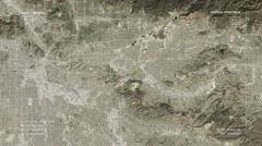 Aerial surveillance flyover of the Central Los Angeles metro area. Stock Footage