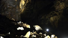 Wwalls of the king's Olav copper mine in Roros, Norway. Stock Footage