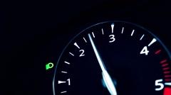 Stock Video Footage of Car Dash Board - Revs, Rev Counter