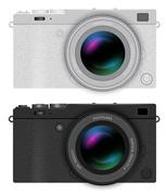 Mirrorless compact camera Stock Illustration