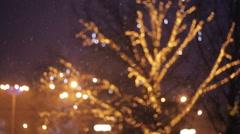 Colorful Christmas Illumination Stock Footage