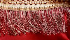 Red Background wit Laces close up Stock Photos