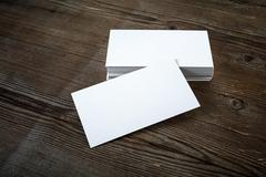 Business cards mock-up - stock photo
