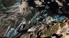 Abstract texture of the oxidated copper in copper mine in Roros, Norway. Stock Footage