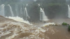 Iguassu falls in Brazil border Argentine - stock footage