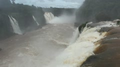 Closed vistion about iguassu falls Brazil border Argentine - stock footage