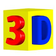 three-dimensional image in 3d - stock illustration