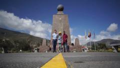 Timelapse Mitad Del Mundo Monument Stock Footage